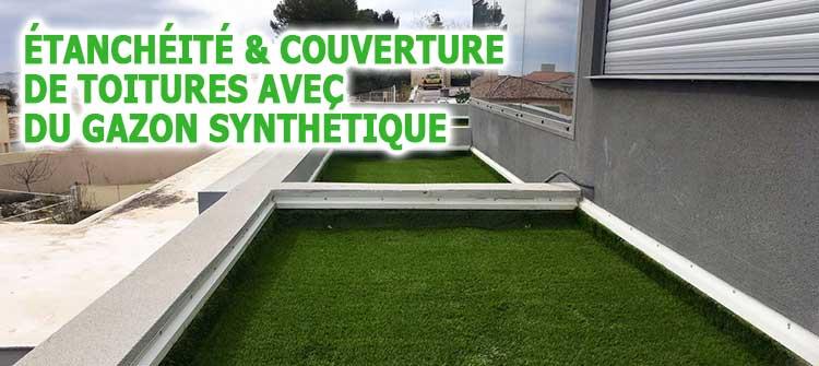 couverture de toit terrasse en gazon