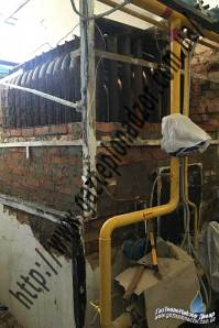 Ремонт обмуровки водогрейного котла НИИСТу-5