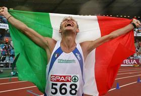 Stefano Baldini, 35, campione d'Europa. Reuters