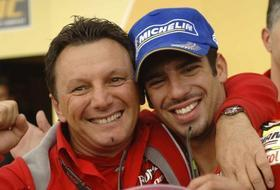 Fausto Gresini e Marco Melandri, insieme dal '05. Sport Image