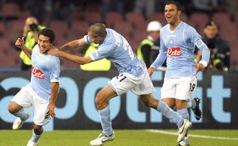 Festa Napoli con Gargano e Domizzi. Reuters