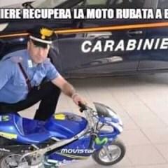 Carabiniere recupera la moto rubata a Brunetta