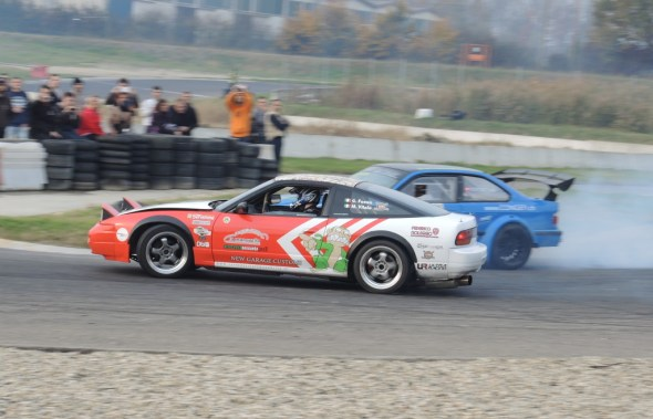 La S13 del Team Crazy Monkies qui ritratta in twin con Rusca.