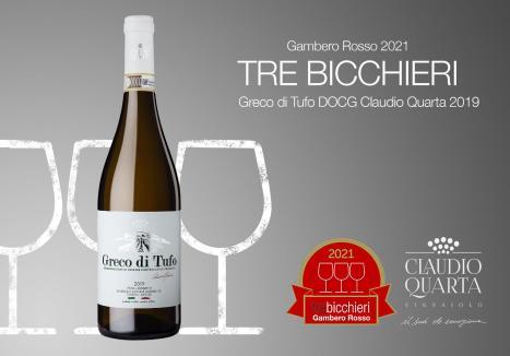 Tre Bicchieri Greco di Tufo Claudio Quarta