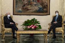 Presidential consultations; meeting Mattarella-Fico