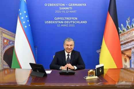 Mirziyoyev-Merkel online summit