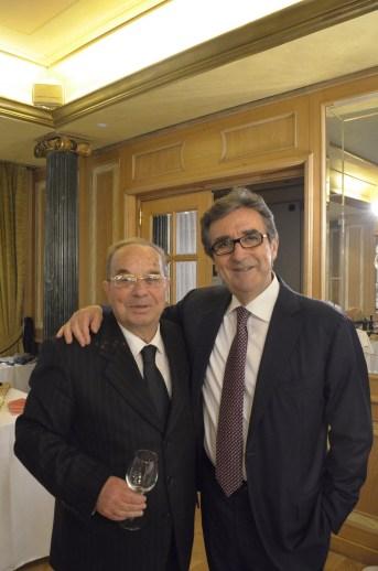 Salvatore Garofano e l'enologo Riccardo Cotarella