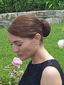 Caterina Murino durante un pausa