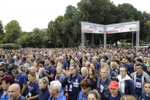 I partecipanti a Corri la Vita a piazzale Vittorio Veneto