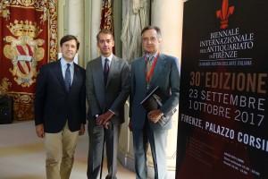 Dario Nardella, Sindaco di Firenze, Maurizio Moretti presentano alla stampa la biennale.