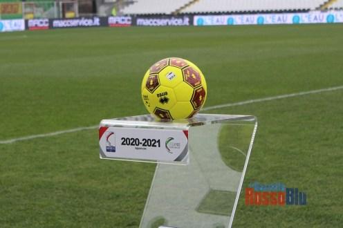 2021 cesena samb pallone serie c conncector giallo