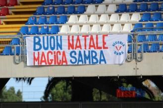 2021 samb virtus verona tifosi striscione buon natale magica samba vecchia onda