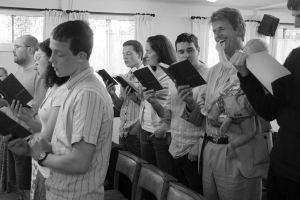 Singing at Grace Baptist