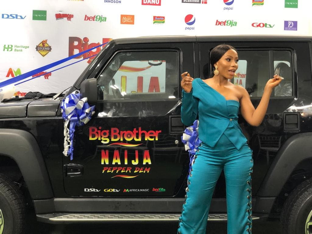 Mercy Lambo with IVM Car prize