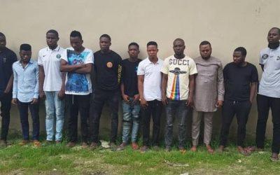 18 suspected internet fraudsters arrested in Ogun