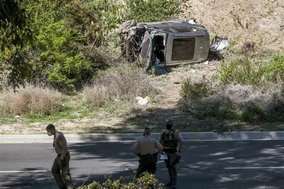 Tiger Woods injured after a rollover car crash near Los Angeles