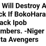 We will Destroy Aso Rock if BokoHaram attack IPOB Members - Niger Delta Avengers
