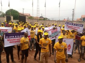 Re-Anambra: APGA Youths protest alleged plan to impose guber candidate on party