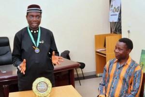NANS awards Arc. Sherrifdeen Ayodele-Oja for Distinguish Leadership.