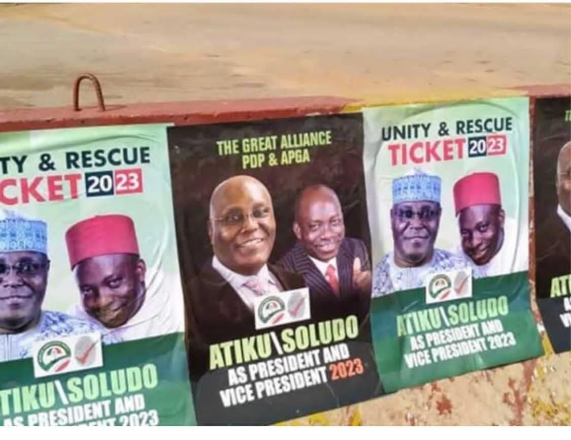 Re - 2023 : Atiku And Soludo Campaign Posters Flood Abuja