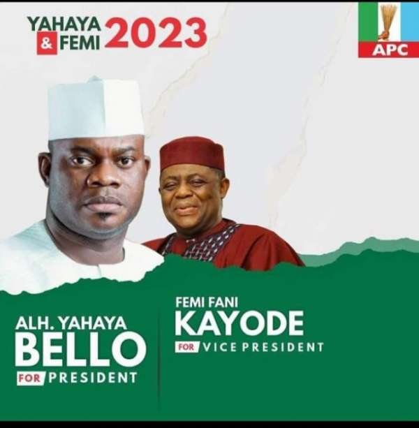 2023 Election: Presidential Campaign Posters Of Yahaya Bello, Fani-Kayode Emerges