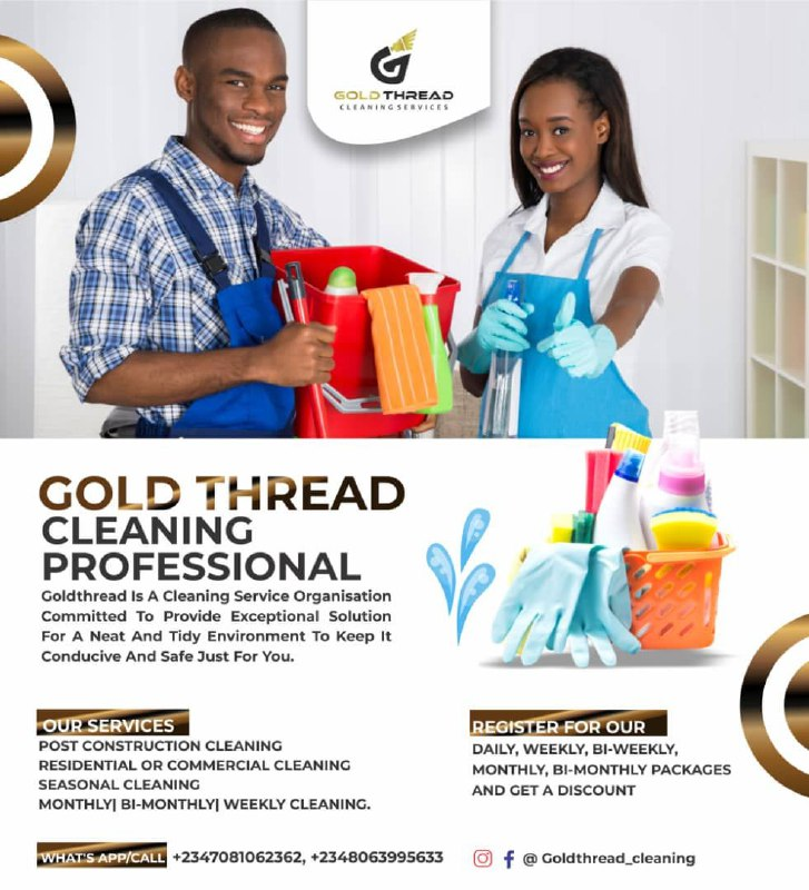 Gold Thread Cleaning Service (Agency) - Offices, Homes