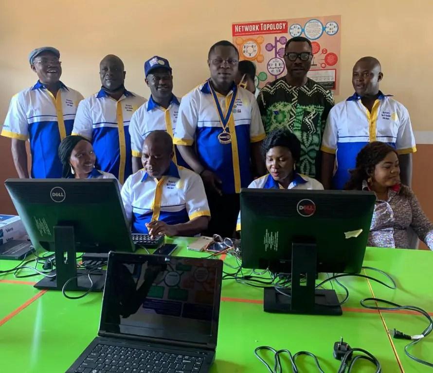 ENGINEER DONATES COMPUTER LABORATORY TO ALMA MATER