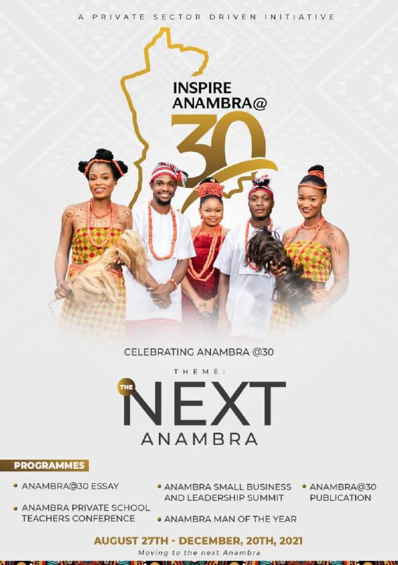 Anambra at 30: Group Plans to draw the World's attention to Beauty