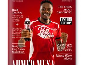 Nigerian Captain, Ahmed Musa covers Giovanna Magazine Latest print Issue