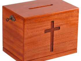 Man arrested for allegedly stealing church offering box