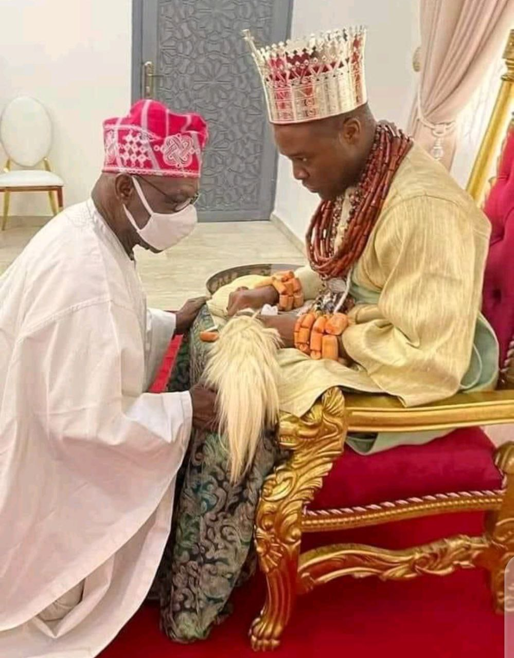 Why 84-year-old Obasanjo bowed before 37-year-old Olu of Warri - Aide