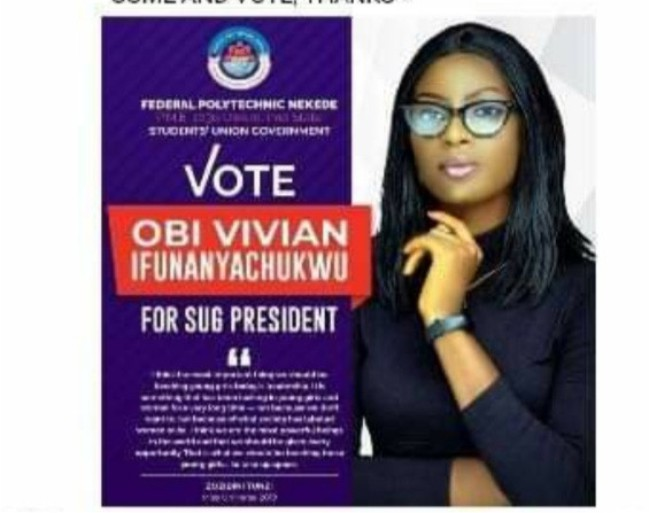 Male Nekede Poly students object Lady running for SUG President