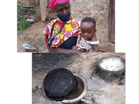 Lockdown: Mother of eight cooks stones for kids to eat
