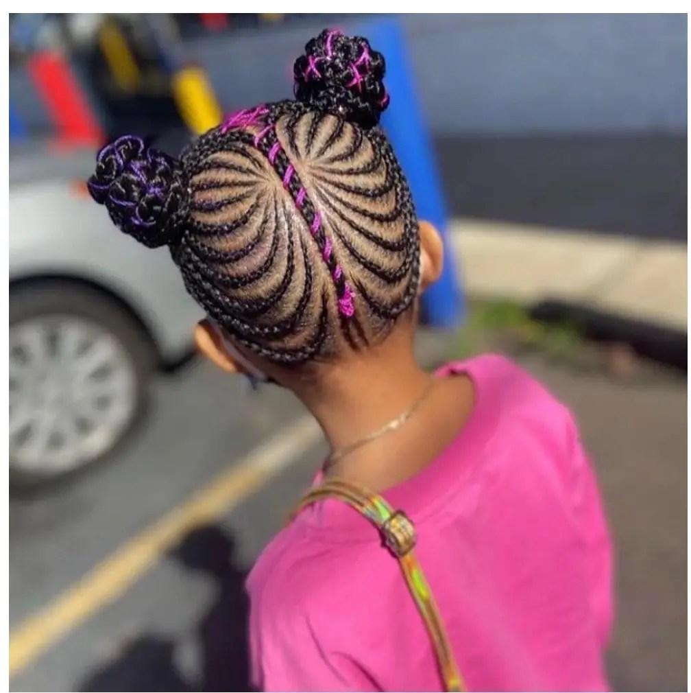 Beautiful braid hairstyle for children to look dashing always