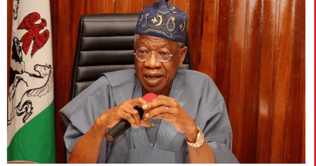 FG in person of Lai Mohammed suspends Twitter in Nigeria