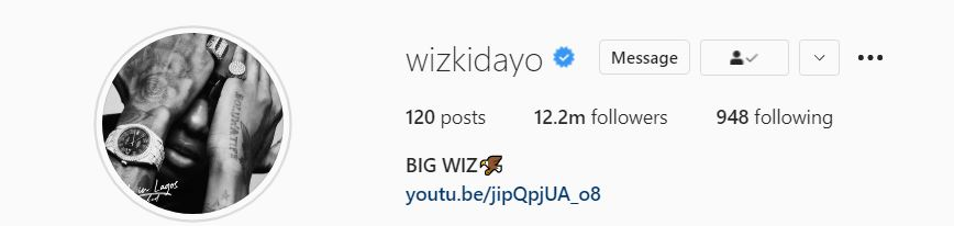 Big Wiz: Wizkid changes signature name on Instagram
