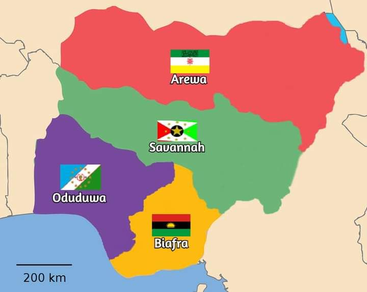 What Nigeria may look like when divided