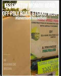 Before and after photos of Roads in Edo State - Gov. Godwin Obaseki's Road Projects