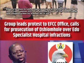 Group leads protest to EFCC Office, calls for prosecution of Oshiomhole