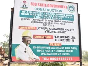 Construction of Igbontor Primary School Orhionmwon
