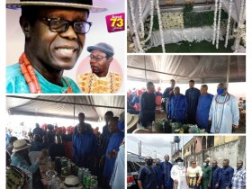 Ereyitomi, Ikomi, Agbolaya; Chiefs at late Pa. Gbiwen's funeral rites