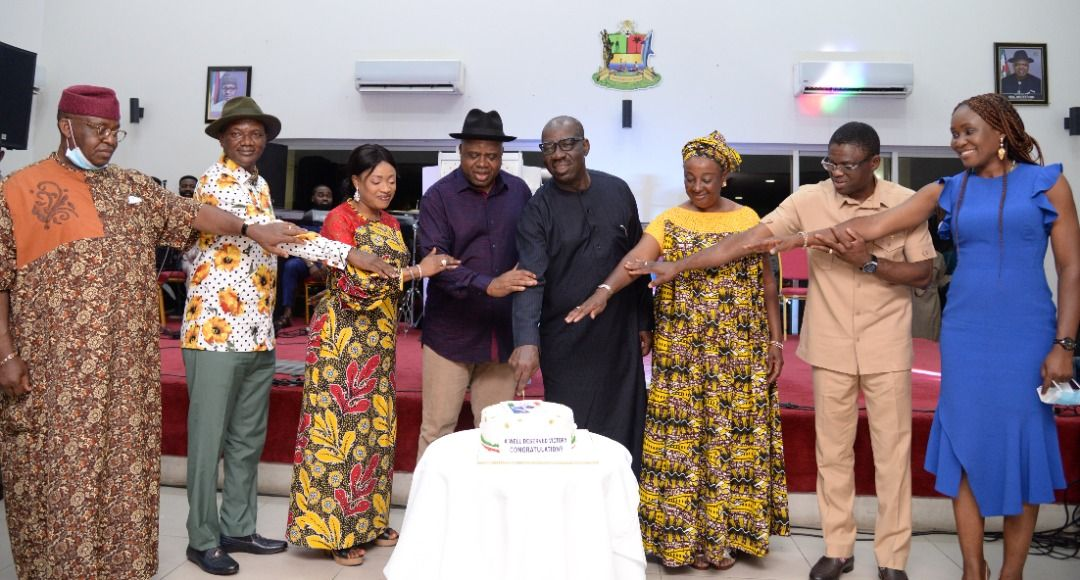 Photos from Obaseki, Shaibu victory dinner at Bayelsa and Delta States