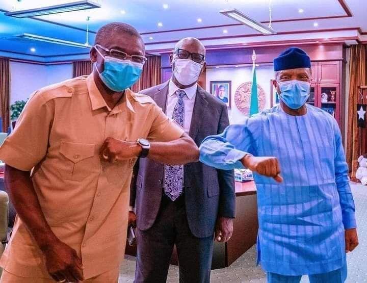 Abuja: Obaseki, Shaibu visit VP, Osinbajo