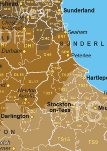 UK County Map Boundaries and UK Parlimentary Constituencies Maps Postcode Sector  District  Area Map