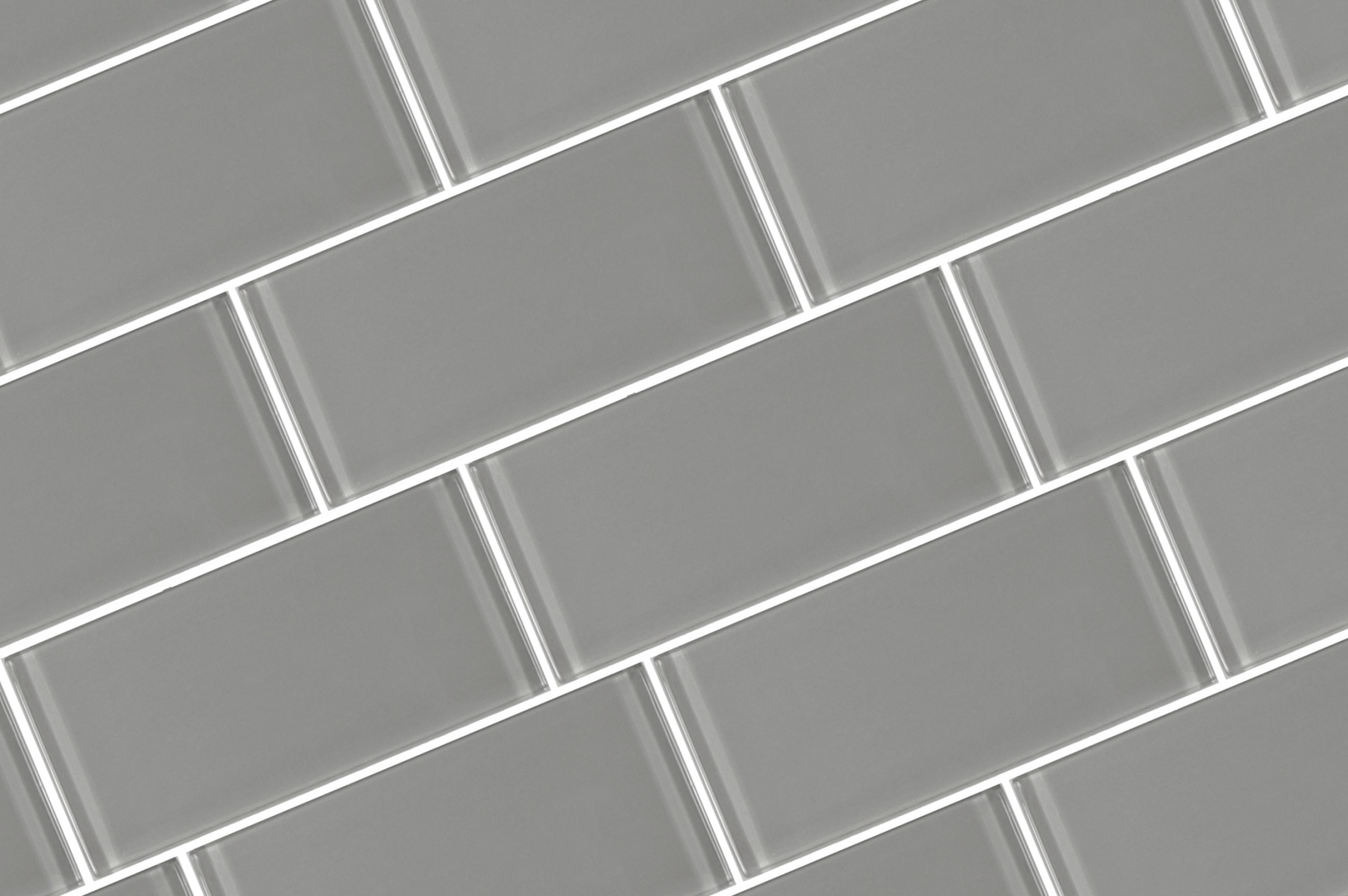 Metro 3 In X 6 In Glass Subway Tile In Pebble Glossy