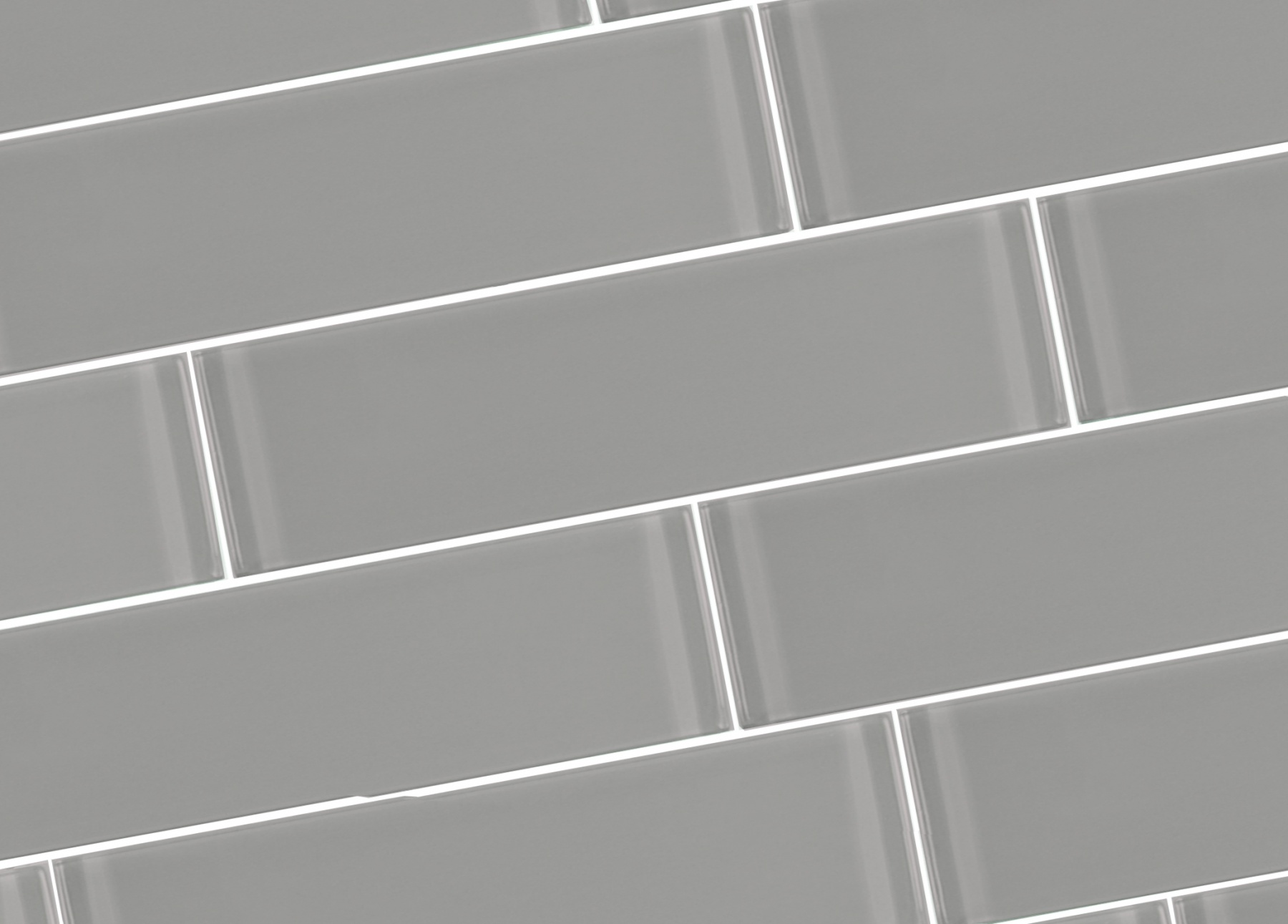 Metro 3 In X 12 In Glass Subway Tile In Pebble Glossy