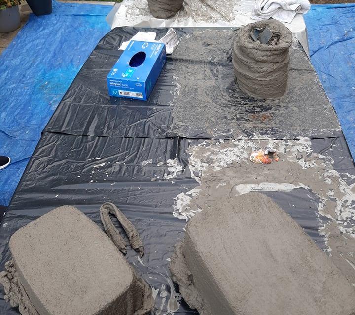 Warsztaty donice z cementu