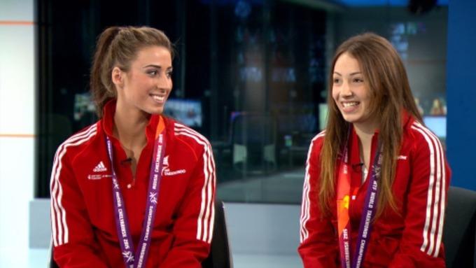 Watch: Bianca Walkden And Rachelle Booth On Their Taekwondo World Championship Success