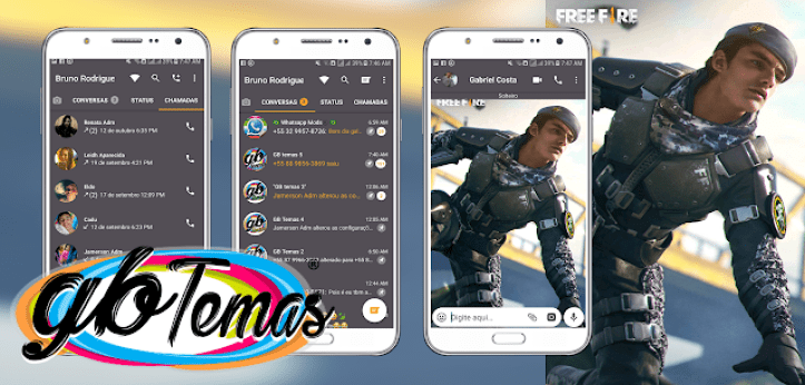 Tema GBWhatsapp Free Fire Miguel