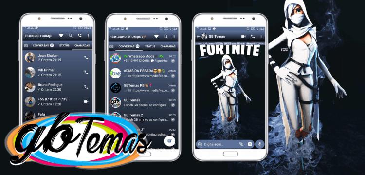 Tema GBWhatsapp - Fortnite Ninja